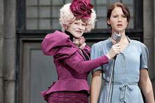 Effie & Katniss at reaping