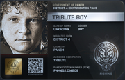 District 4 Tribute Boy ID Card