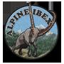 Alpine ibex badge