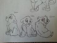 Cheena and kent s cubs shiro tika and gina by gingalover123-d97dsnc