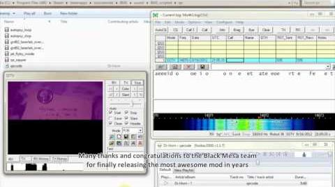 SSTV Transmission in Black Mesa Source Files