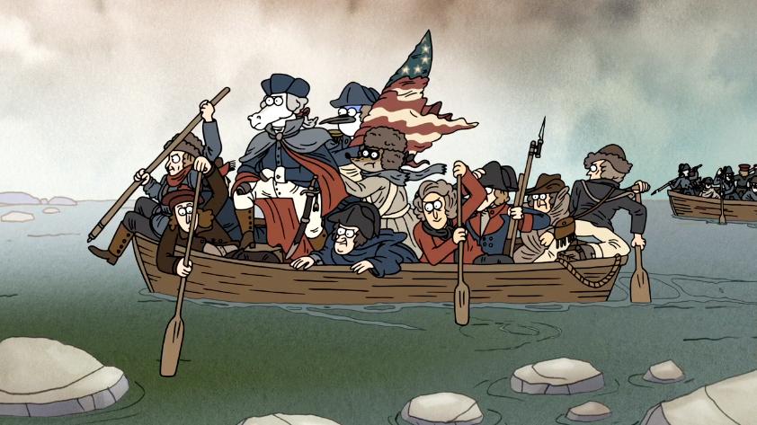 Image - S6E21.144 George Washington Crossing the Delaware River ...