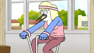 S6E11.143 Mordecai's Mom Exercising on a Stationary Bike