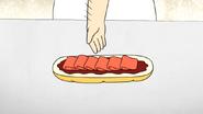 S4E13.043 Sensai Placing Ham in the Sandwich