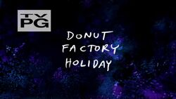 Donut Factory Holiday Title Card