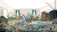 S3E34.074 Mordecai and Rigby Cleaning Their Room