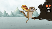 S4E25.193 Rigby Charging Towards the Stress Monster