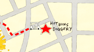 S4E34.073 Hot Buns Doggery on the Map