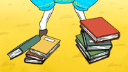 S6E21.095 Books Thrown at Party Horse's Hooves