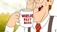 S4E33.129 Doug McFarland Holding the World's Best Boss Mug