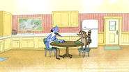 S4E33.001 Mordecai and Rigby Eating Cereal