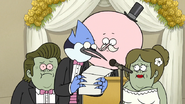 S6E28.099 Mordecai Reading Muscle Dad's Letter