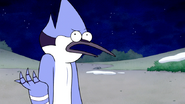 S6E11.049 Mordecai Tells Sad Sax Guy the Mistletoe Incident