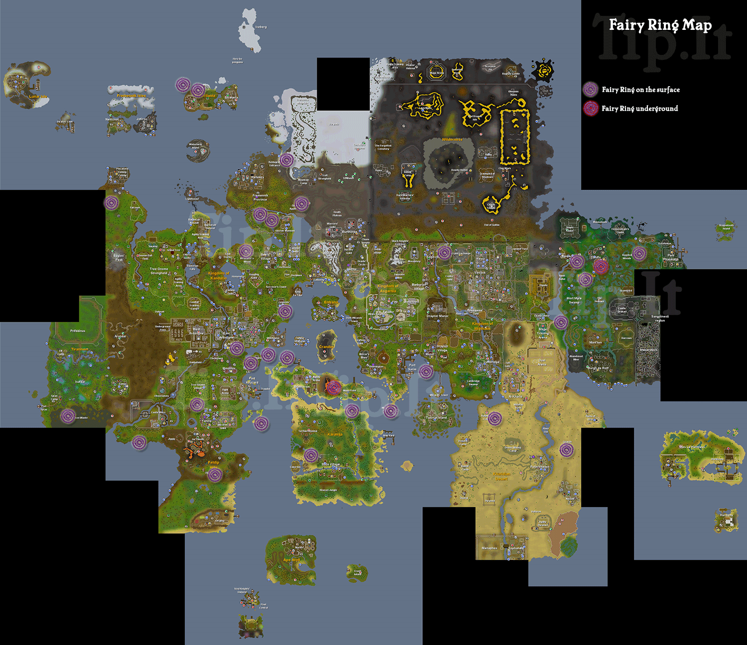 Using fairy rings runescape map