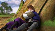 Odette and Derek huging together
