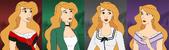 The Difrerents dress of Odette.