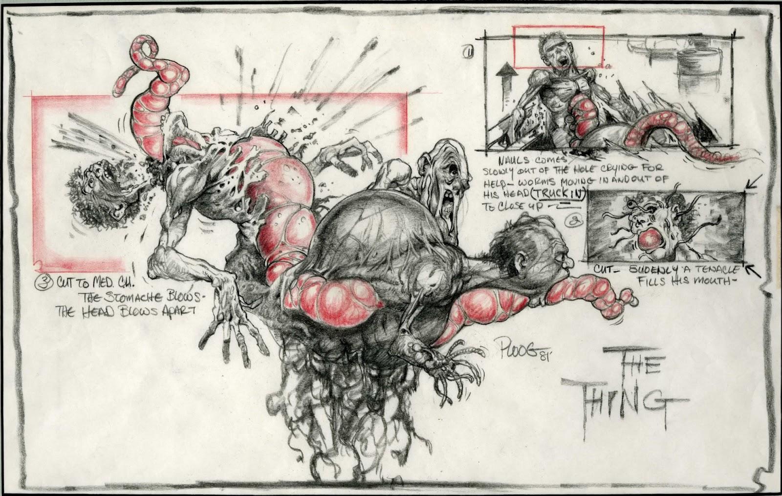 - Ploog Blair Monster concept art - The Thing (1982).jpg   The Thing ... The Thing 1982 Blair Monster