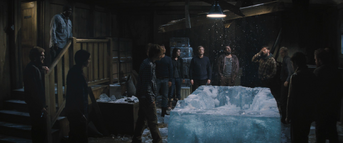 Thule Station ice-block room, The Thing (2011)