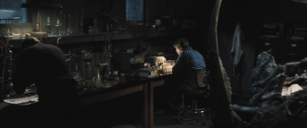 Creating a blood test, The Thing (2011)