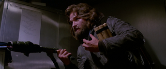 MacReady tries to convince the men of his humanity - The Thing (1982)