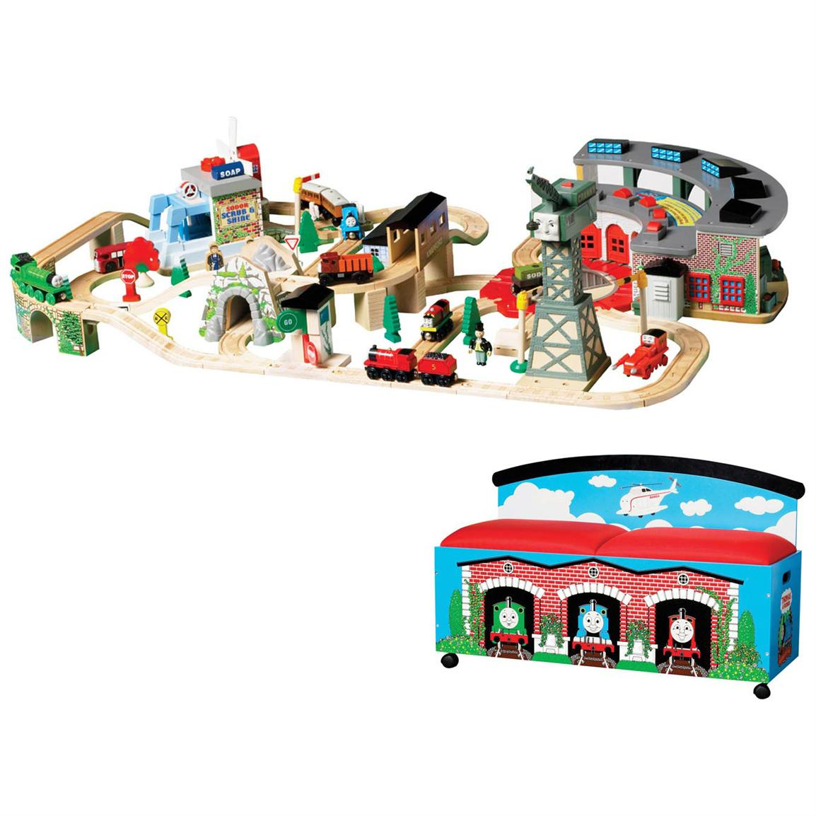 sight and sounds set thomas wooden railway wiki fandom powered by wikia. Black Bedroom Furniture Sets. Home Design Ideas