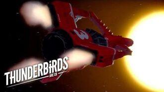 Thunderbird 3 Gets Hit By A Solar Flare Thunderbirds Are Go Clip