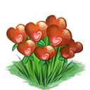 Decoration 1x1 valentine flowerpatch@2x