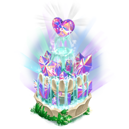 Decoration 2x2 crystal bank heartfountain@2x