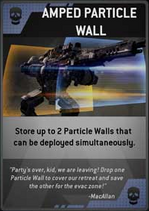 Amped Particle Wall