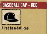 Baseball cap red