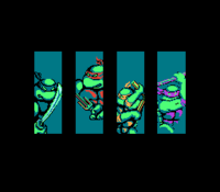 TMNT NES All Four Turtles Intro