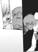 Arima dying in Sasaki's arms