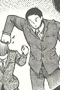 Yanagi hits Toujou's head