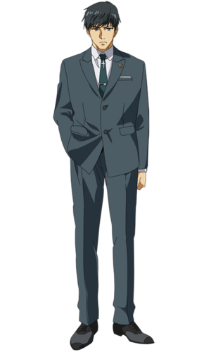 Amon anime design front view