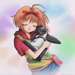 Ringo Akai with her Yuki-chan, right before she transforms for the first time.