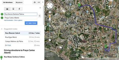Distance between Porto's house and Norte's house