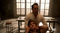 Teen Wolf Season 3 Episode 2 Ian Bohen Daniel Sharman Claws to the back of the neck