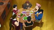 Setsuno eats with Acacia's family