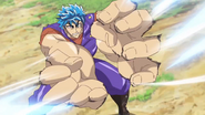 Toriko releasing Fork Knife at the same time