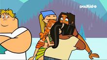 Lindsay izzy leshawna alejandro hug yukon