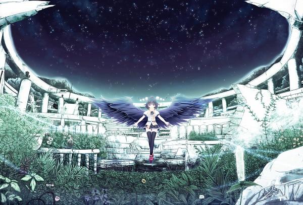 File:Aya at a shrine.....mabye Reimu's......jpg