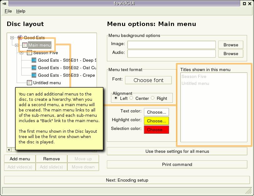 Gui second menu added