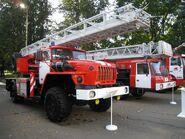Ural ladder truck in Russia