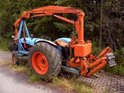 Fordson Super Major and grab crane-8485