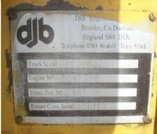 DJB Vehicle ID Plate