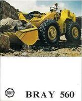 A 1980s Bray 560 4WD Diesel Loader