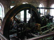 Petrie of Rochdale steam engine at New Lanark - DSC03085