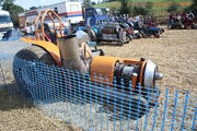 Tractor puller with a jet engine at Holcot