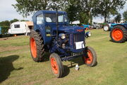 Fordson E27N Major (CSU 275) with Scottish Aviation cab at Lincoln rally 2012 - IMG 6915