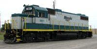 3801 EMD GP38-2 diesel locomotive